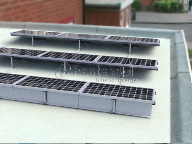 Concrete Flat Roof Ballasted Mount